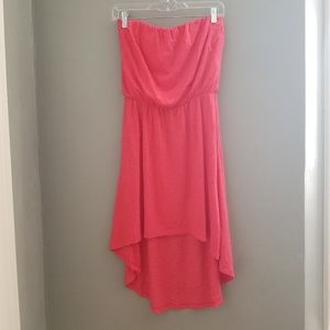 Express I Strapless high low dress pink medium